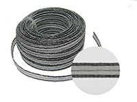 Stromleitendes Kunststoffband, weiß, 1m, 10mm breit.
