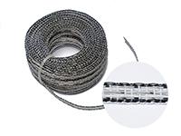 Stromleitendes Kunststoffband, grün-weiß, 1m, 8mm breit.