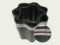 Rasenkante mit Aluminiumband, 15 cm, grün.